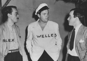 Com Alex Viany e Orson Welles