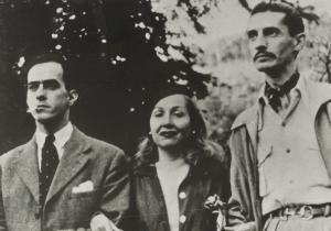 Com Carmen Santos e Mario Peixoto, atriz e diretor do filme Limite. Os três fundaram o cineclube Chaplin Club