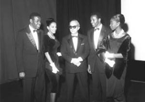 Com atores do filme Orfeu Negro