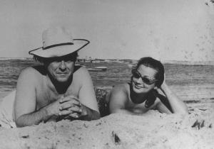 Na praia, com Maria Lucia Proença