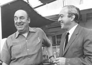 Com o poeta chileno Pablo Neruda