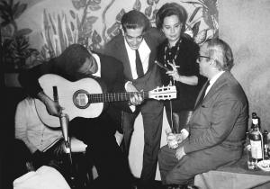 Com Baden Powell, Lucio Alves, Silvia Telles, 1965
